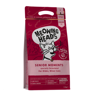 Meowing Heads Senior Moments (dry food)