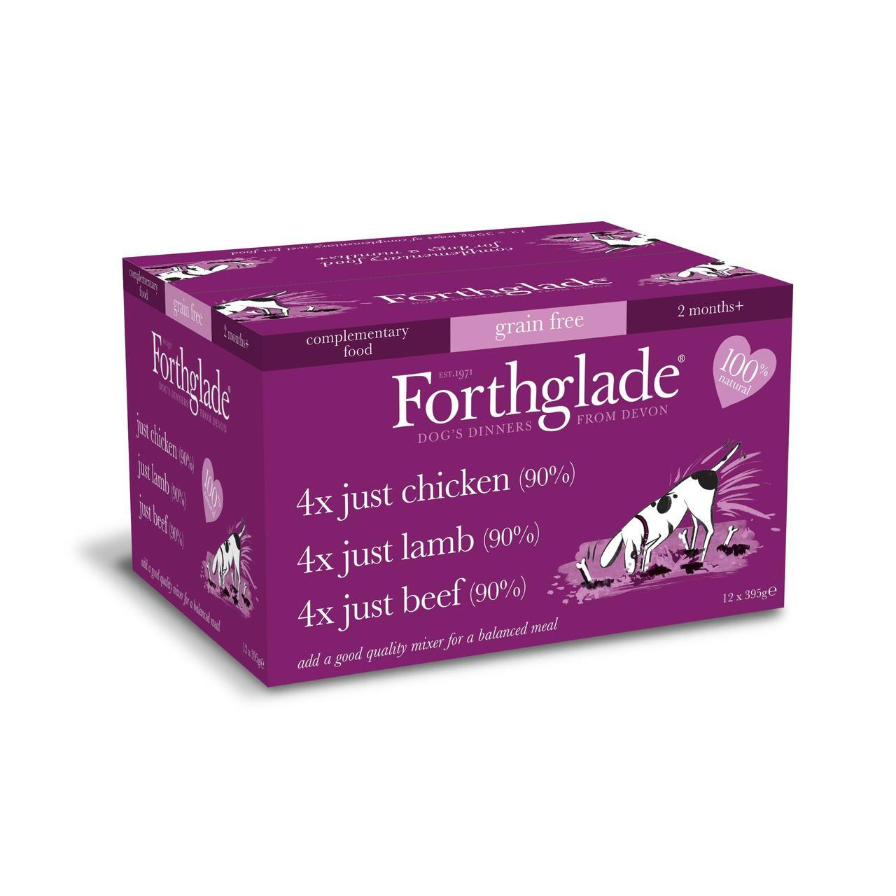 Forthglade Just Adult Multicase Grain Free (Chicken, Lamb and Beef)