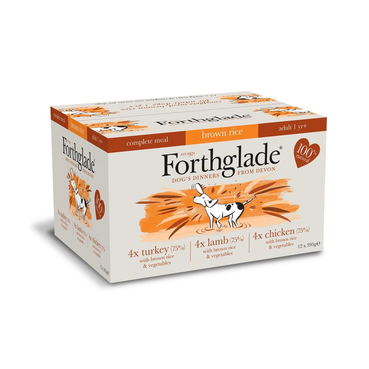 Forthglade Complete Adult Multicase (Lamb, Turkey & Chicken with Brown Rice)