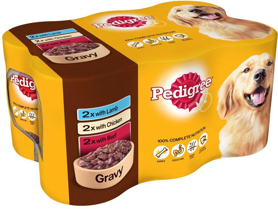 pedigree chunks in gravy
