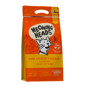 Meowing Heads Paw Lickin' Chicken 1.5kg (dry food)