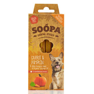 Soopa Dental Sticks, Carrot & Pumpkin