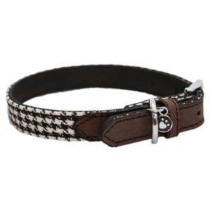 Rosewood Brown Houndstooth Collar