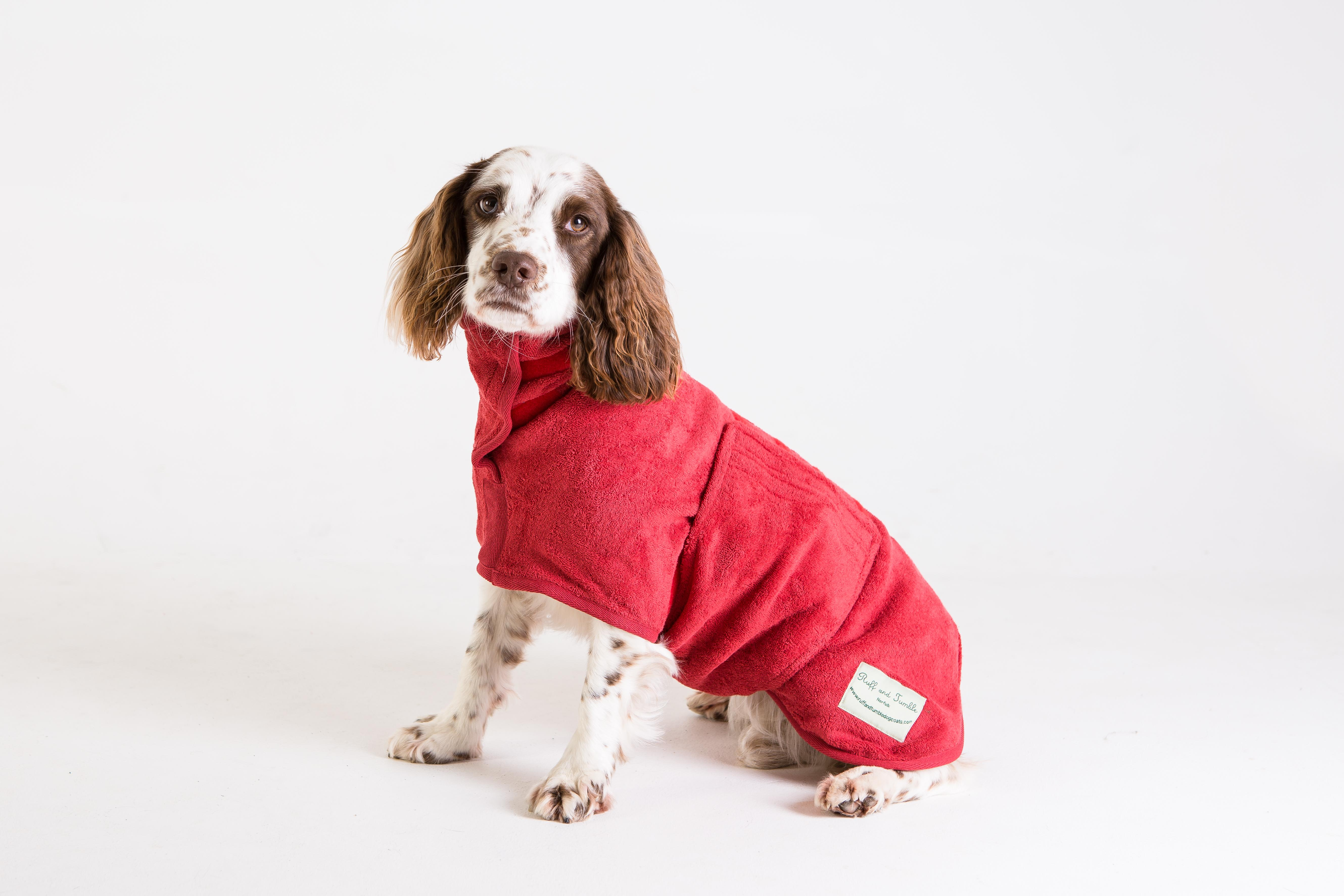 Red dog Drying coat