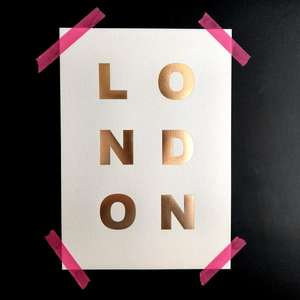 Katie Leamon London A4 Typography Print at Albert & Moo
