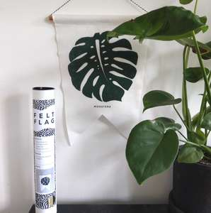 Monstera Felt Flag by Studio Wald at Albert & Moo