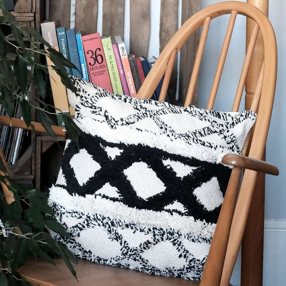 Sass & Belle Scandi Boho Cushion at Albert & Moo