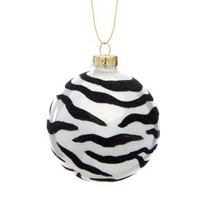 Luxe Zebra Print Bauble at Albert & Moo