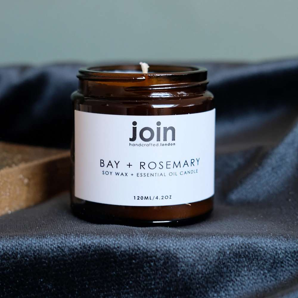 Join Apothecary Bay & Rosemary Luxury Scented Soy Wax Candle at Albert & Moo