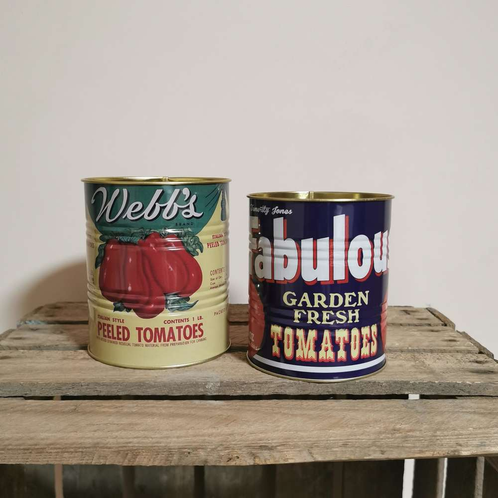 Vintage Style Tins Plant Pots Storage Tins at Albert & Moo