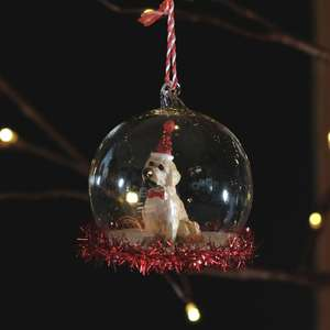 Party Pup Tinsel Bauble at Albert & Moo