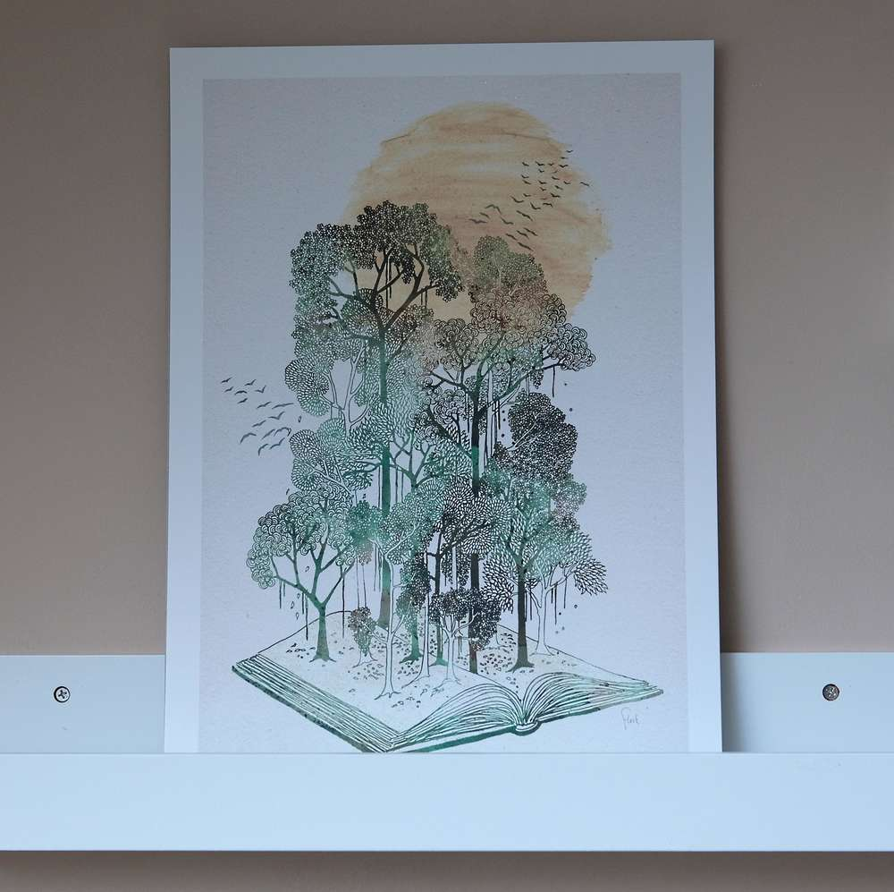 Jungle Book by Fleck Illustration A3 Print at Albert & Moo