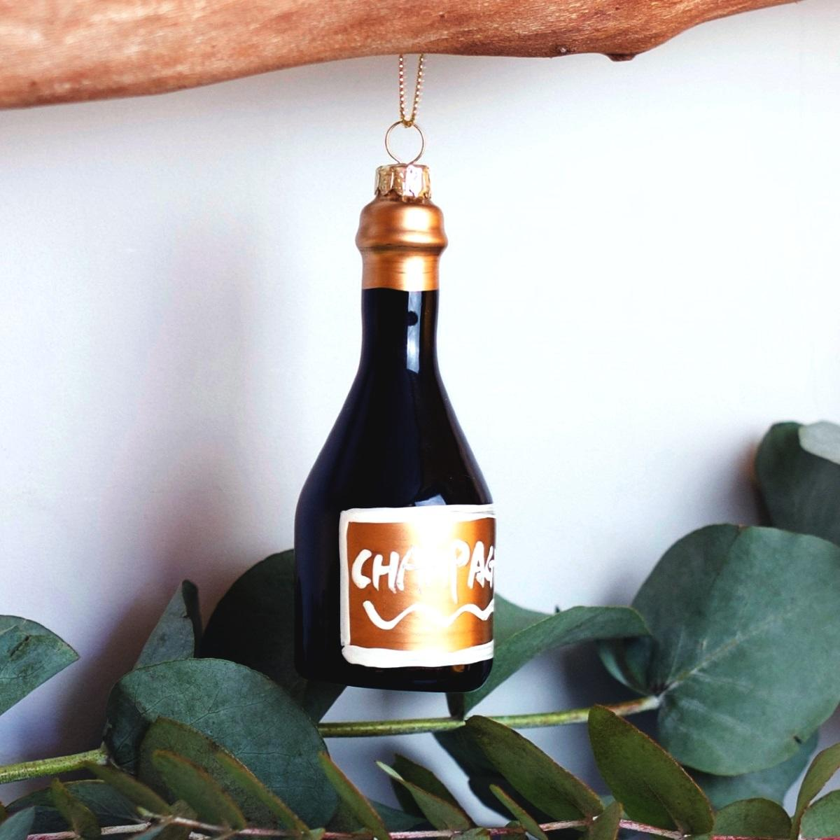 Champagne Bottle Bauble at Albert & Moo