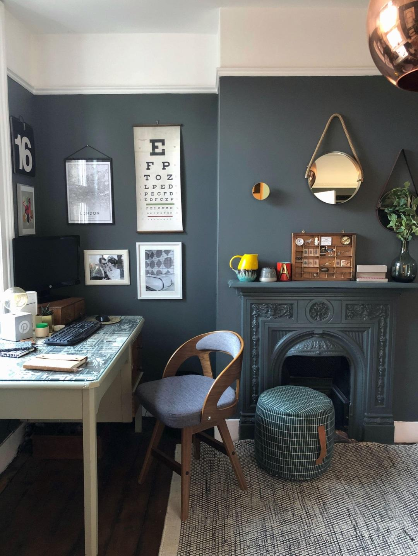 Dark Home Office by Design Soda