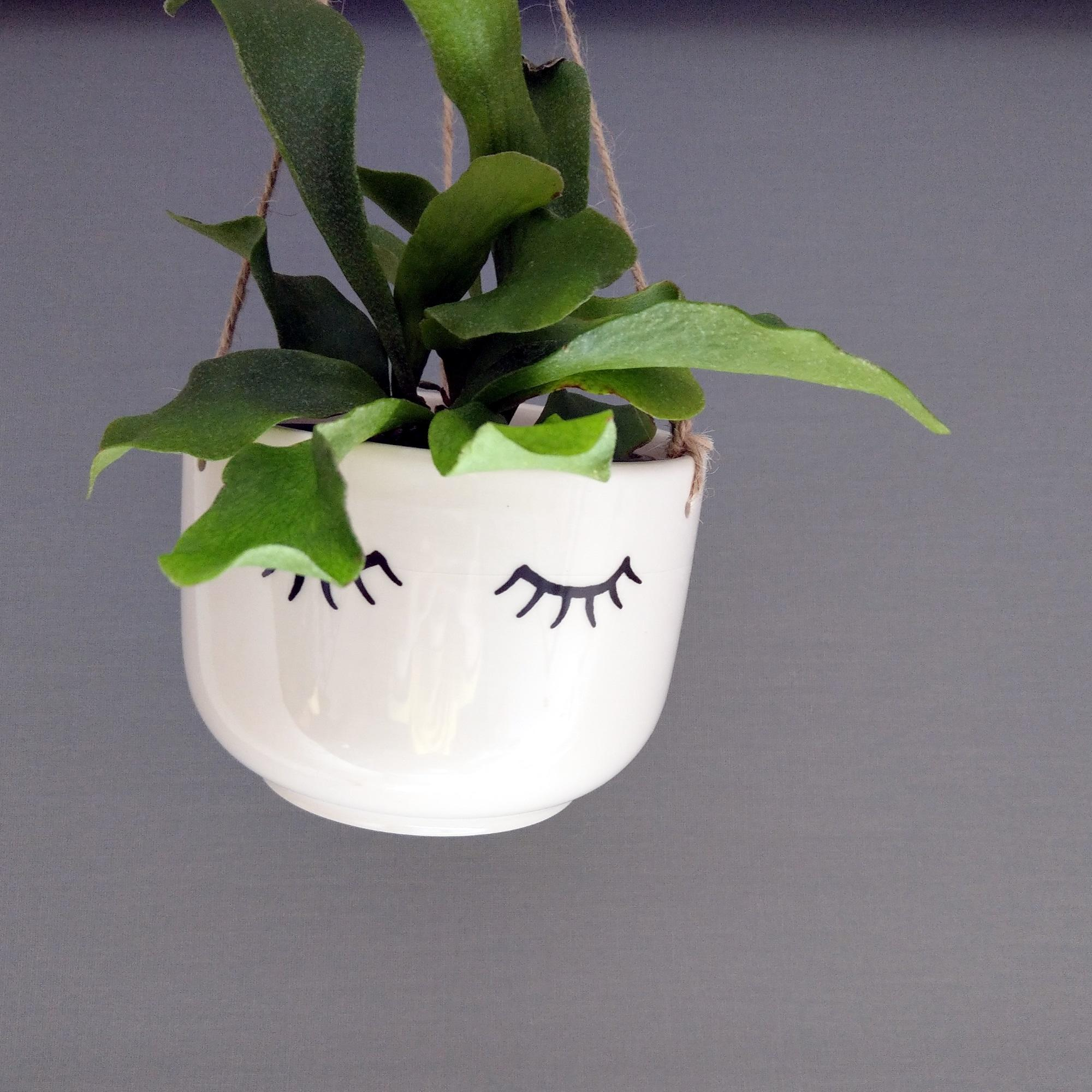 Tired Eyes Hanging Plant Pot at Albert & Moo