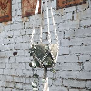 Burgon & Ball Macramé Hanging Plant Pot at Albert  & Moo