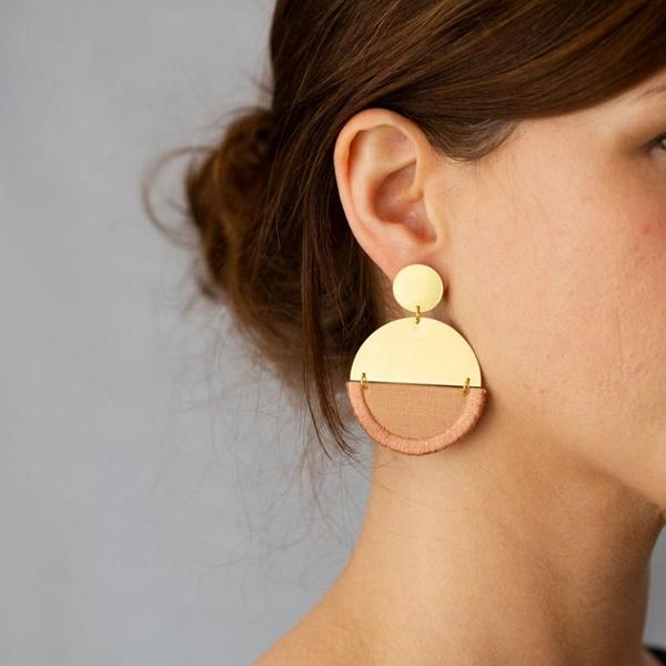 Brass & Rose Earrings by Nook of the North