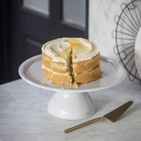Brompton cake stand and cake slice at Lisa Valentine Home