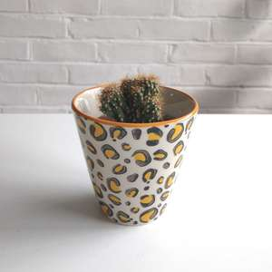Sass & Belle Leopard Print Mini Plant Pot at Albert & Moo