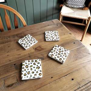 Leopard Print Coasters at Albert & Moo