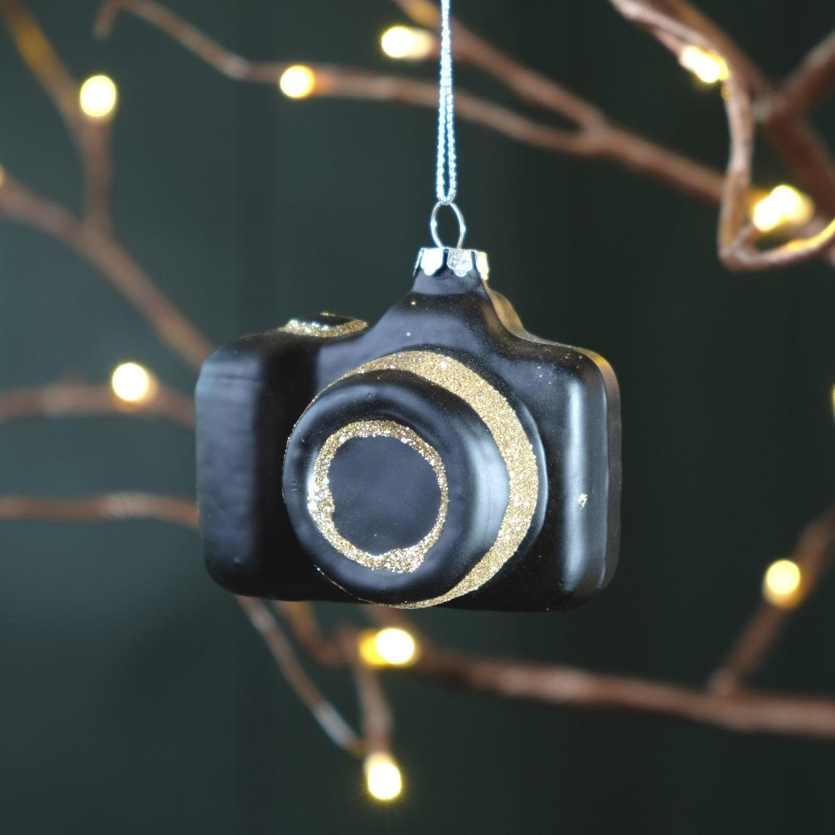 Retro Camera Bauble at Albert & Moo