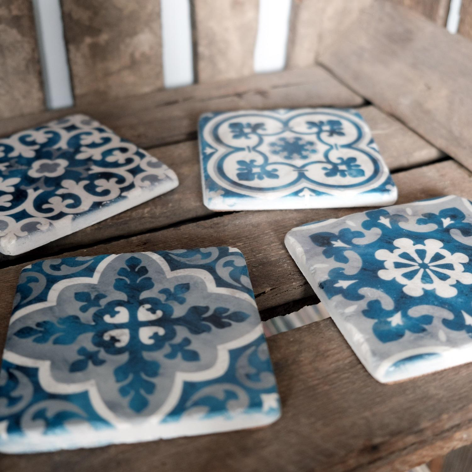 Mediterranean Mosaic Coasters at Albert & Moo