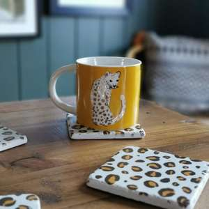 Gold Leopard Mug at Albert & Moo