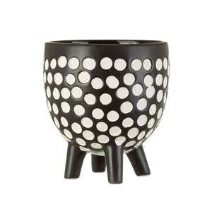 Black Spotted Leggy Plant Pot at Albert & Moo