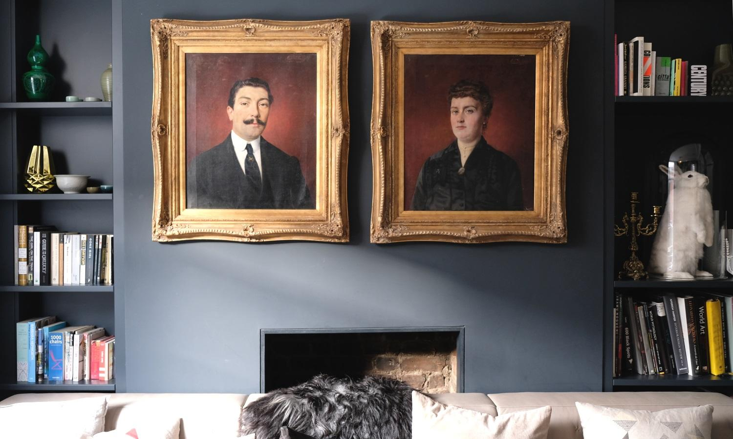 Inky blue, grey traditional quirky in De Beauvoir Townhouse for Living Etc.
