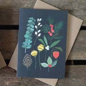 Brie Harrison Botanical Christmas Greetings Cards at Albert & Moo