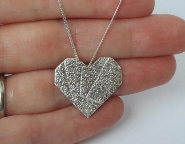 Eco Friendly Silver Heart Necklace