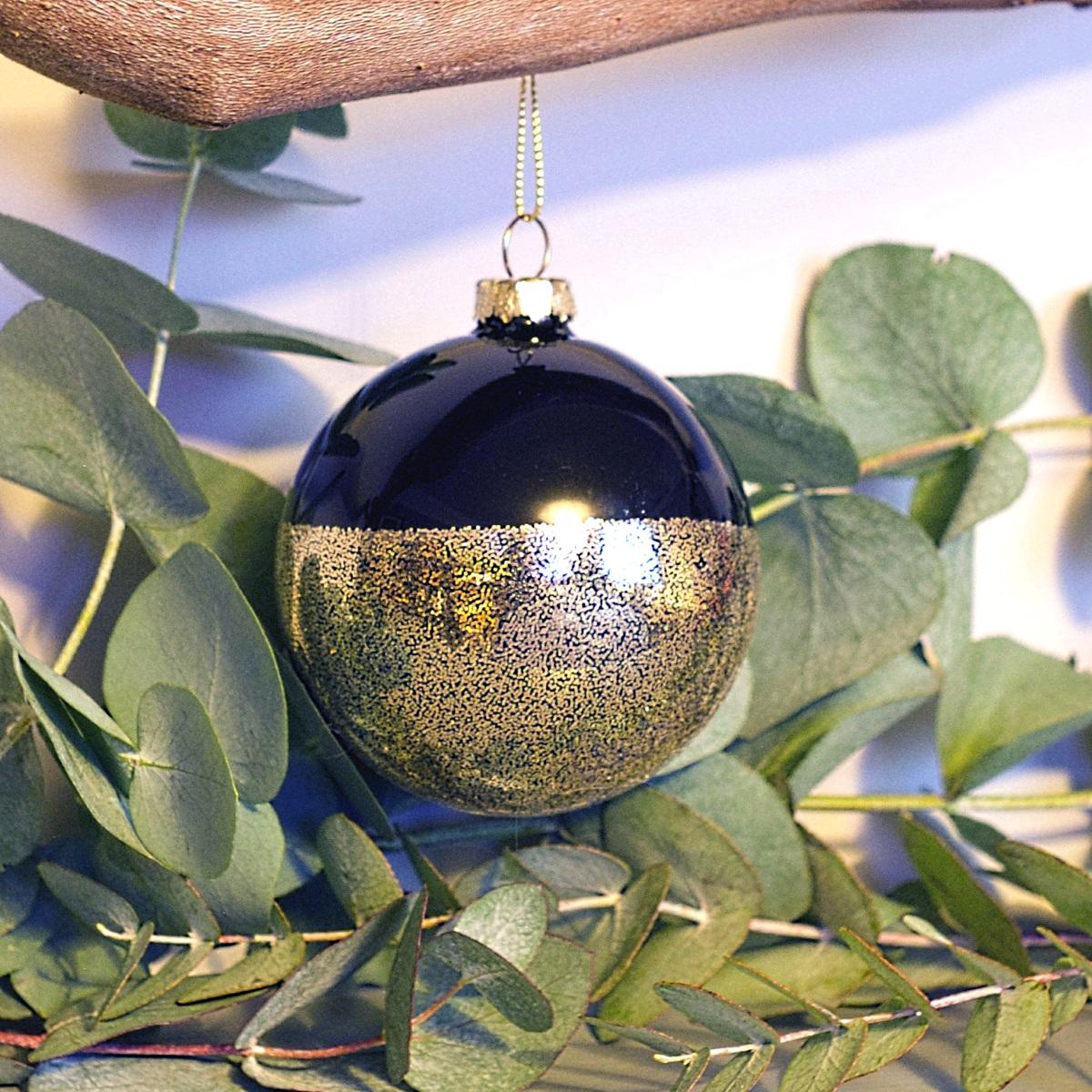 Black & Speckled Metallic Bauble at Albert & Moo