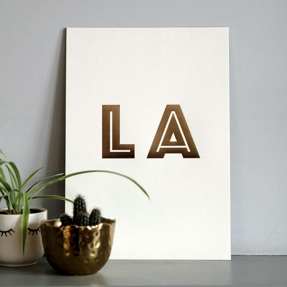 Katie Leamon Los Angeles A4 Typography Print at Albert & Moo