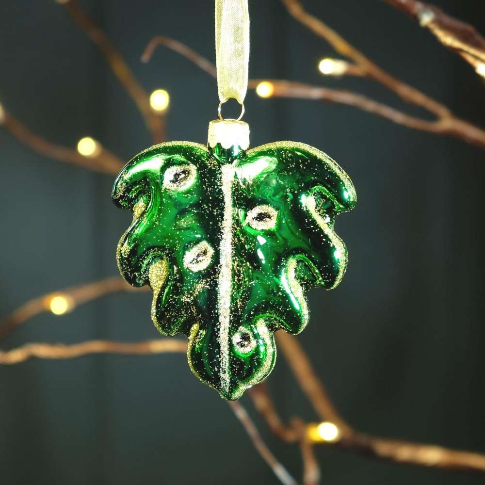 Monstera Leaf Hanging Decoration at Albert & Moo