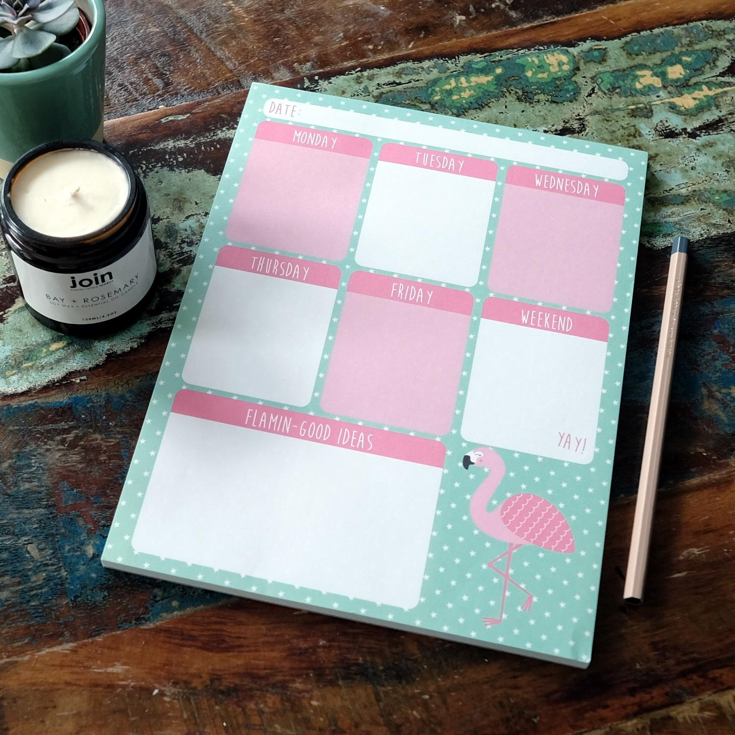 Flamingo Planner at Albert & Moo