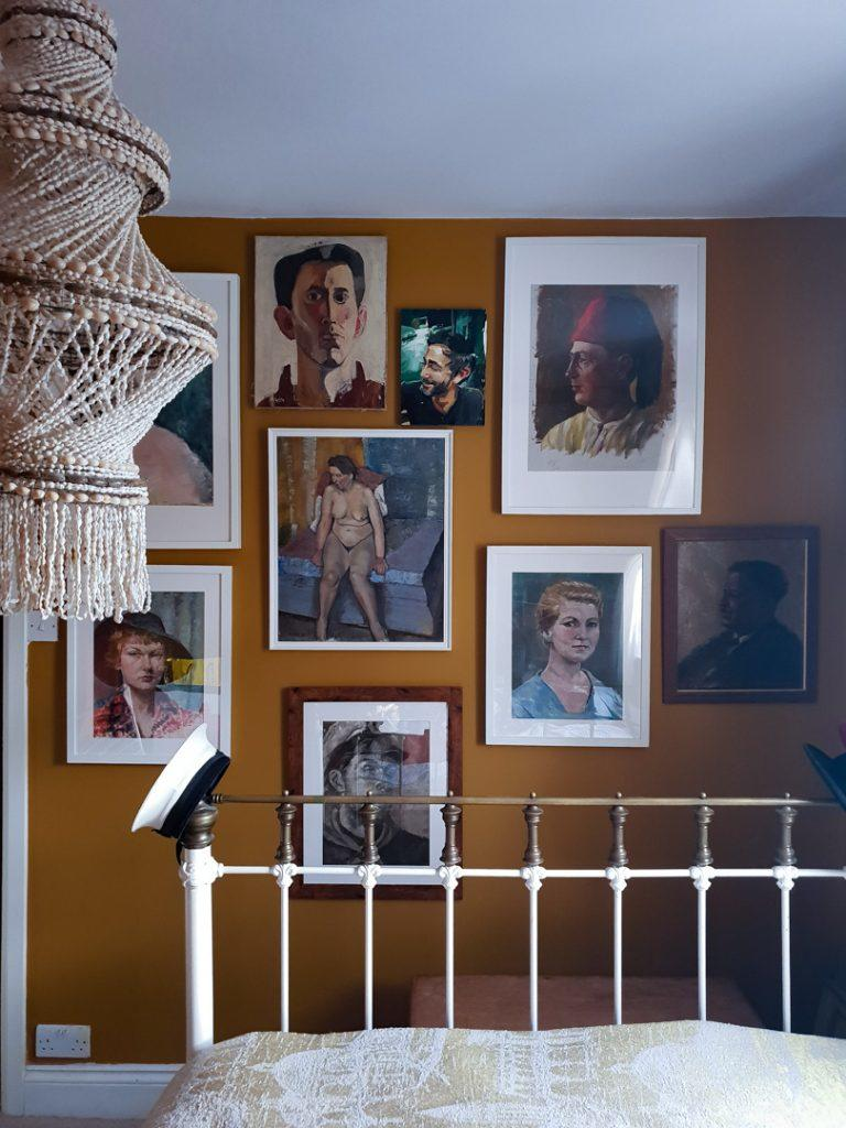 Bedroom Portrait Gallery Wall