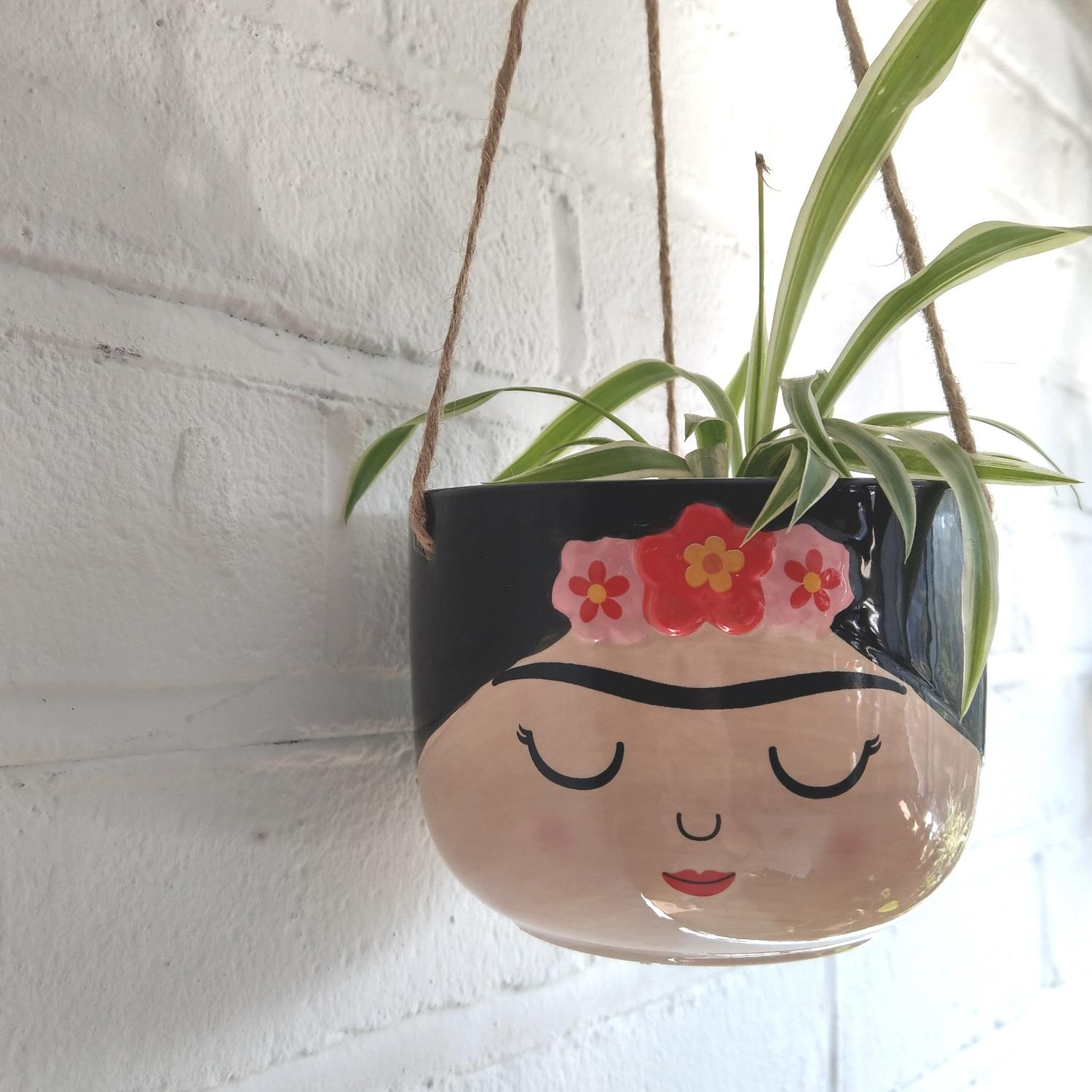 Sass & Belle Frida Hanging Plant Pot at Albert & Moo