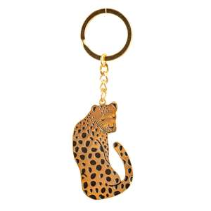 Gold Leopard Keyring at Albert & Moo