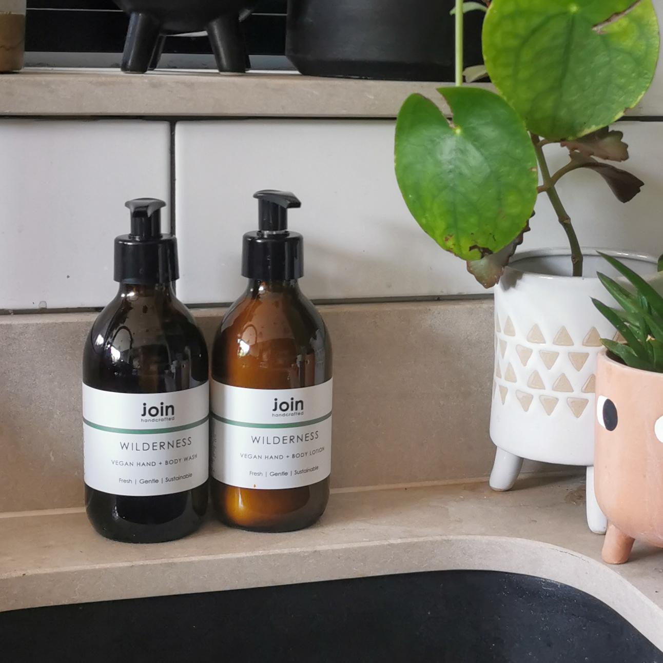 Join Wilderness Vegan Essential Oil Hand & Body Wash at Albert & Moo