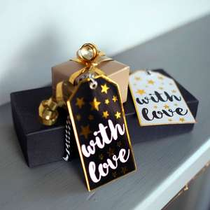 Set of Six 'With Love' Gift Tags at Albert & Moo
