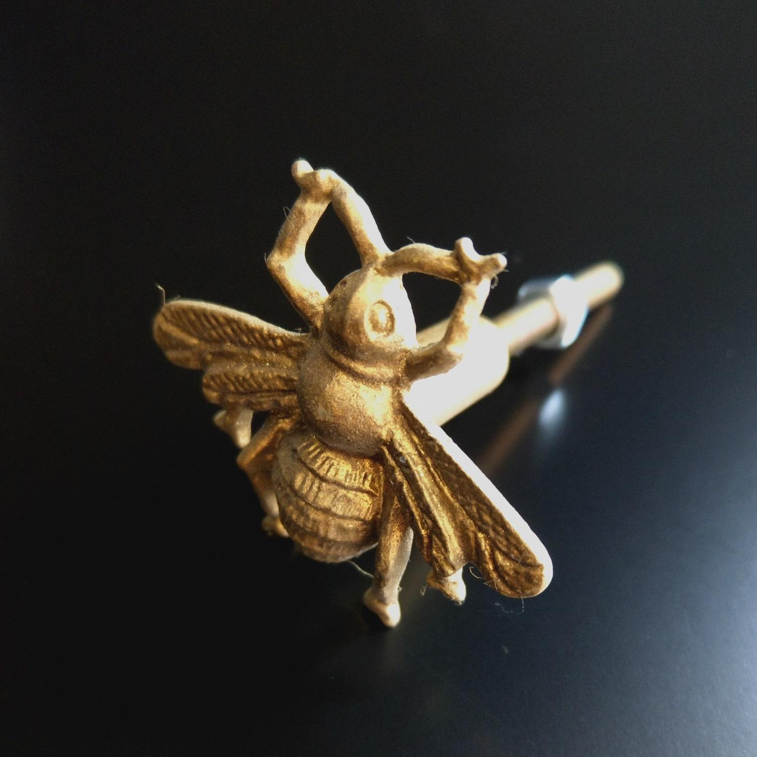 Gold Bee Drawer Knob at Albert & Moo