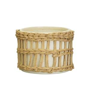 Boho Woven Plant Pot at Albert & Moo