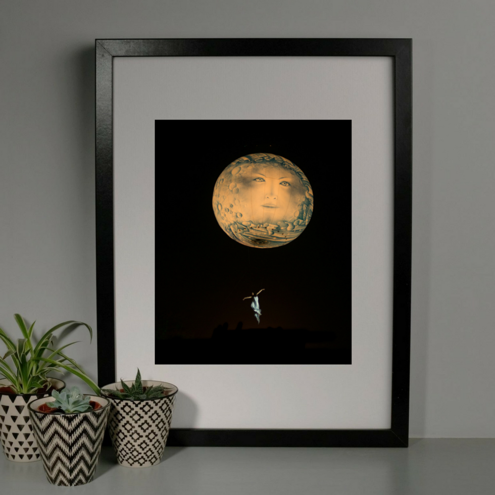 Dreamy Moon Face Photography Print at Albert & Moo