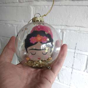 Glitter Frida Bauble at Albert & Moo
