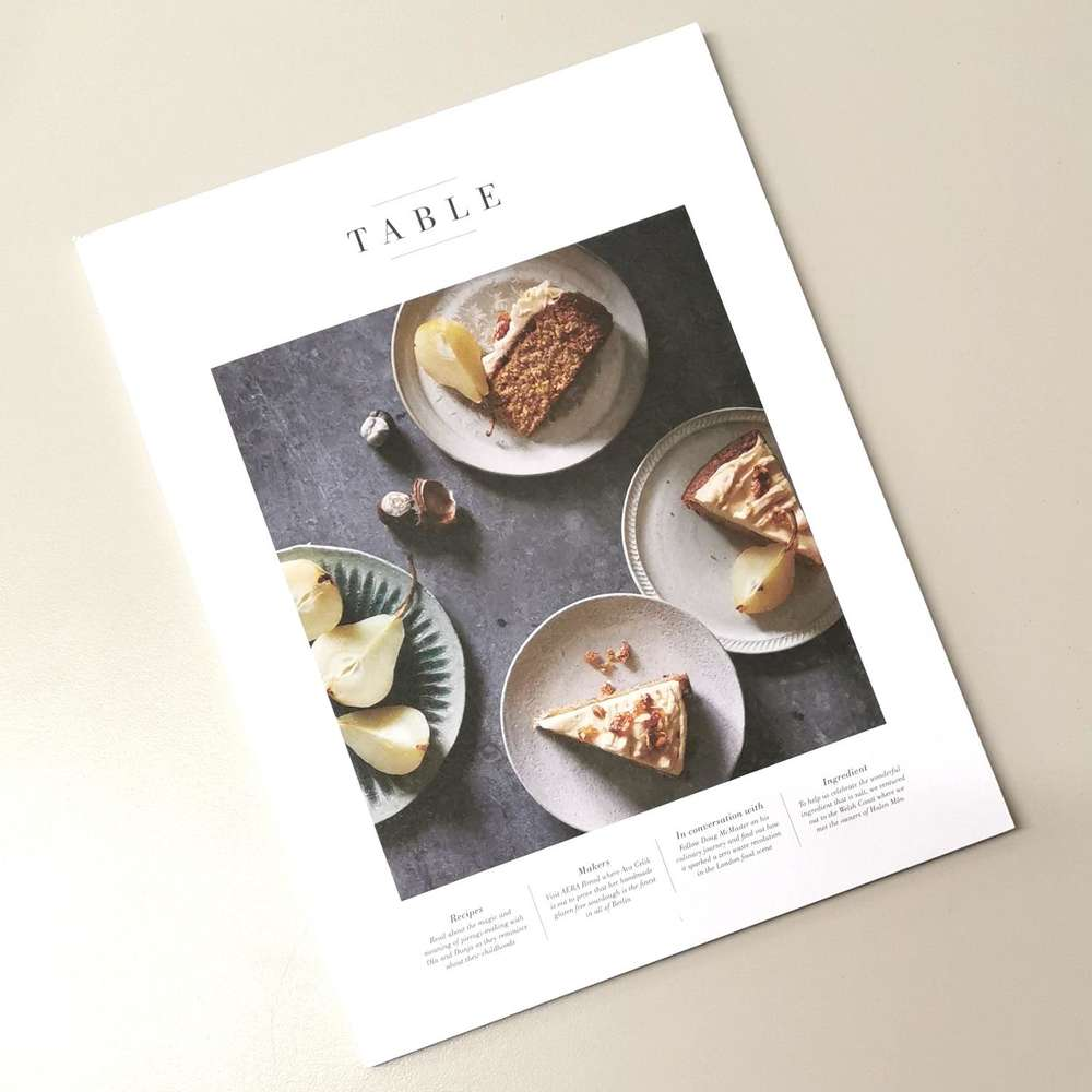 Table Magazine Issue Three at Albert & Moo
