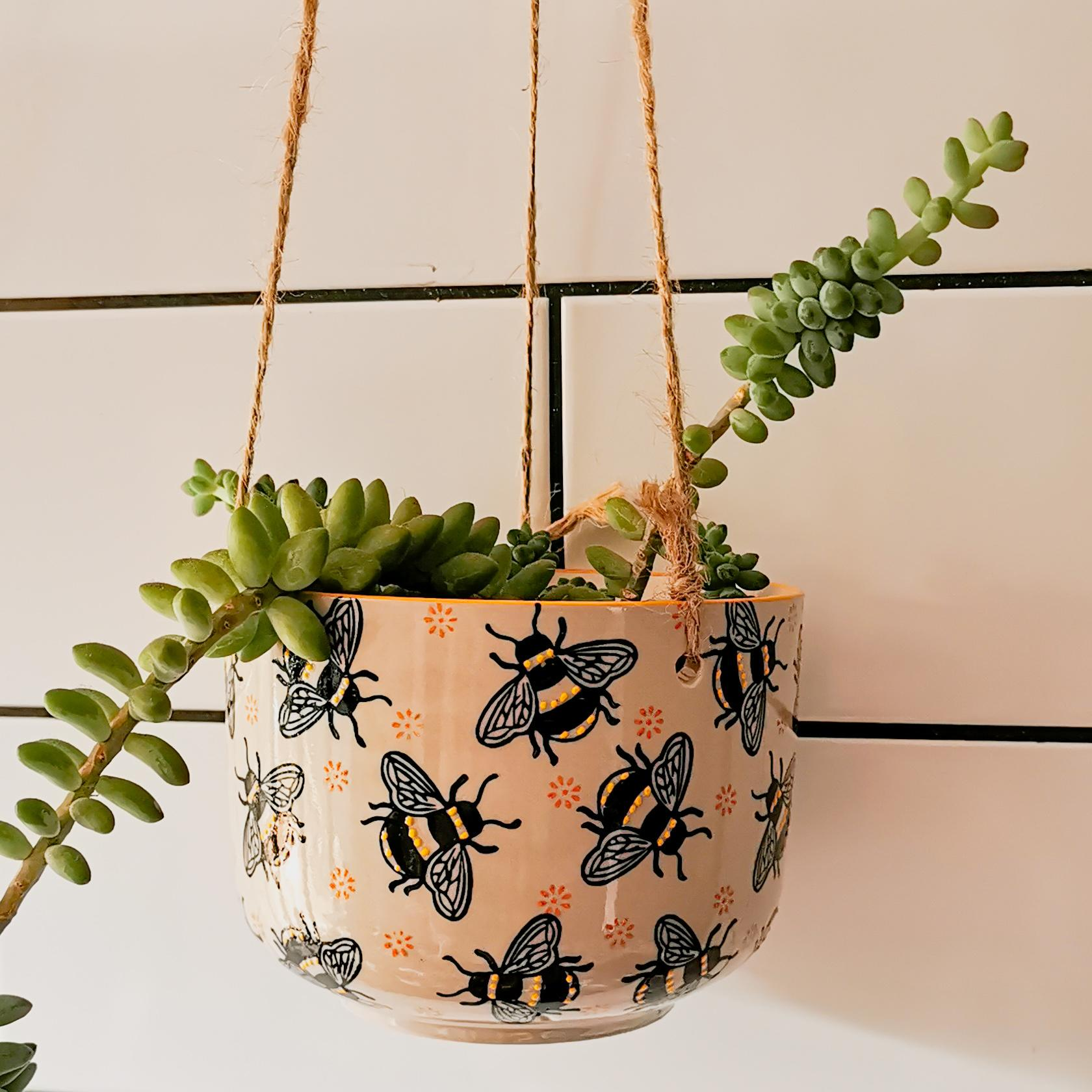 Busy Bees Hanging Plant Pot at Albert & Moo