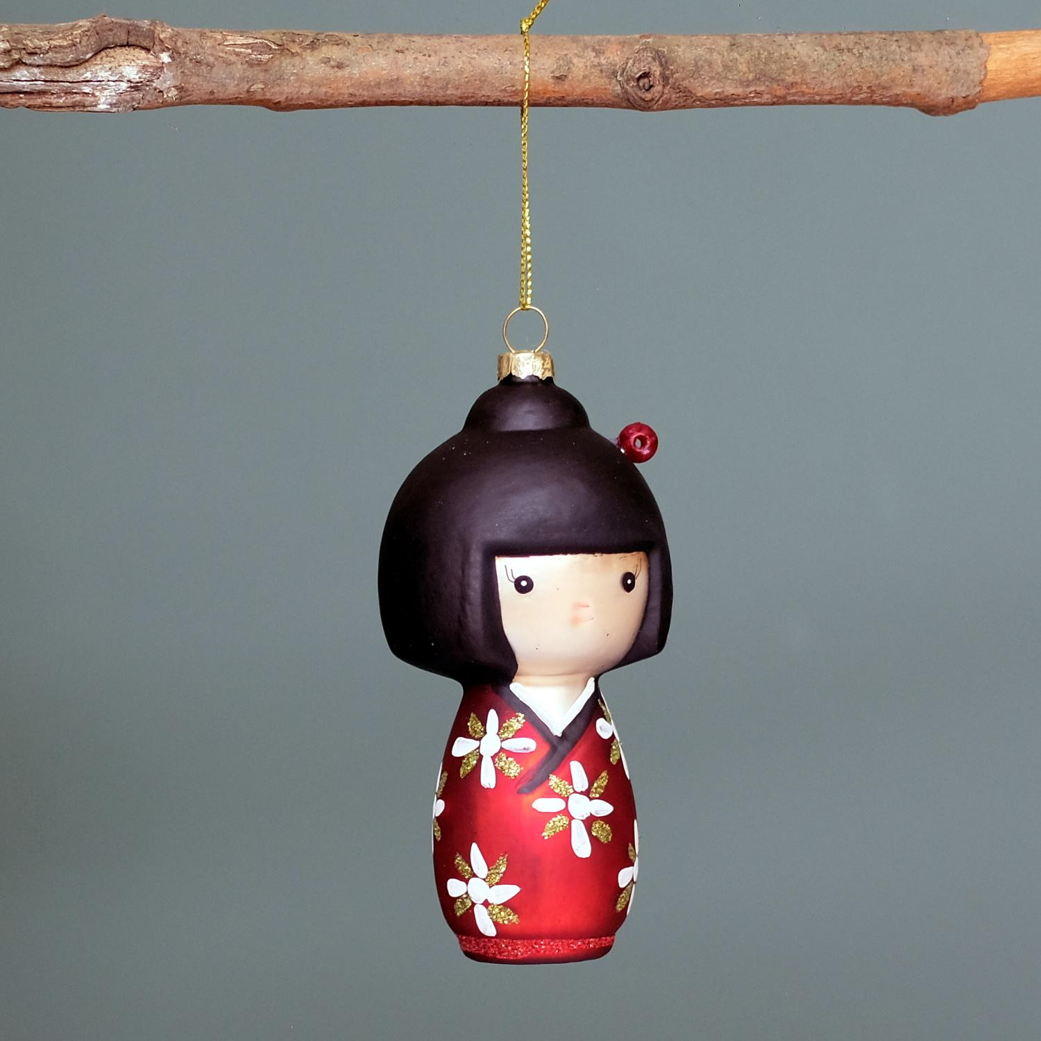 Kokeshi Doll Bauble at Albert & Moo