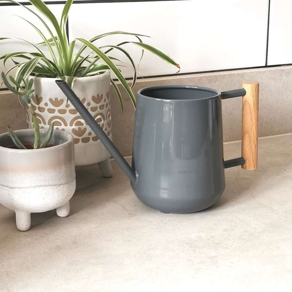 Burgon & Ball Grey Indoor Watering Can at Albert & Moo