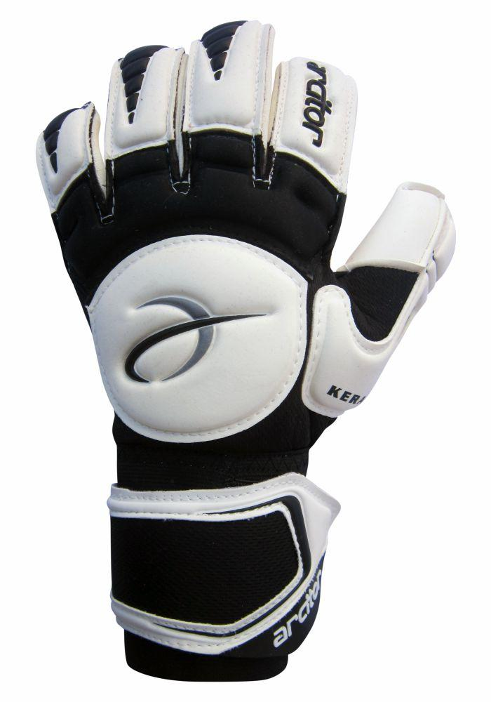 Keras black and white goalkeeper gloves