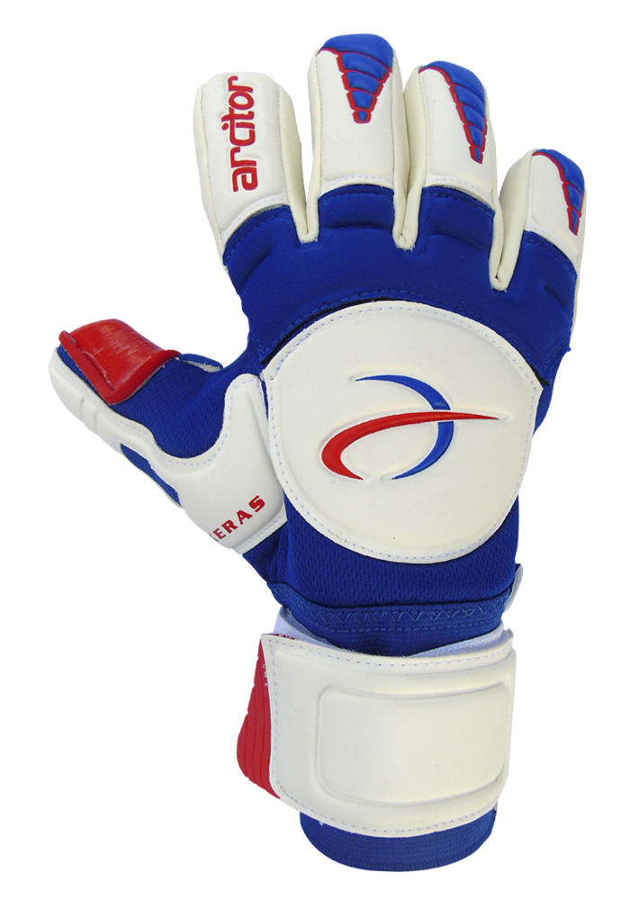 Keras Blue Red Goalkeeper Gloves